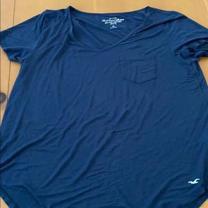 Hollister Blue V-Neck Top